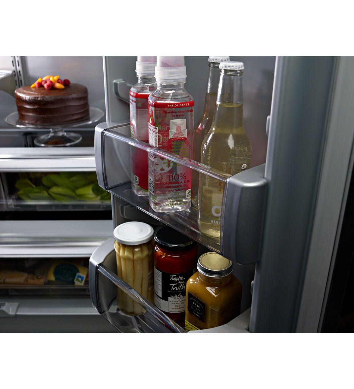 Kitchenaid kbfn506epa 36 20 8 cu ft built in panel - Kitchenaid refrigerator platinum interior ...
