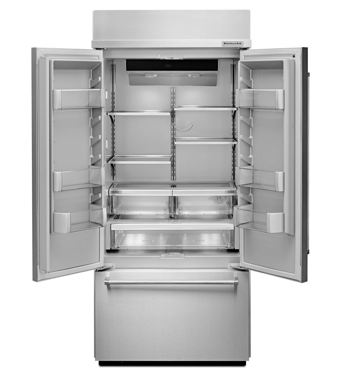 36 Kitchenaid 208 Cu Ft Built In Panel Ready French Door Refriger