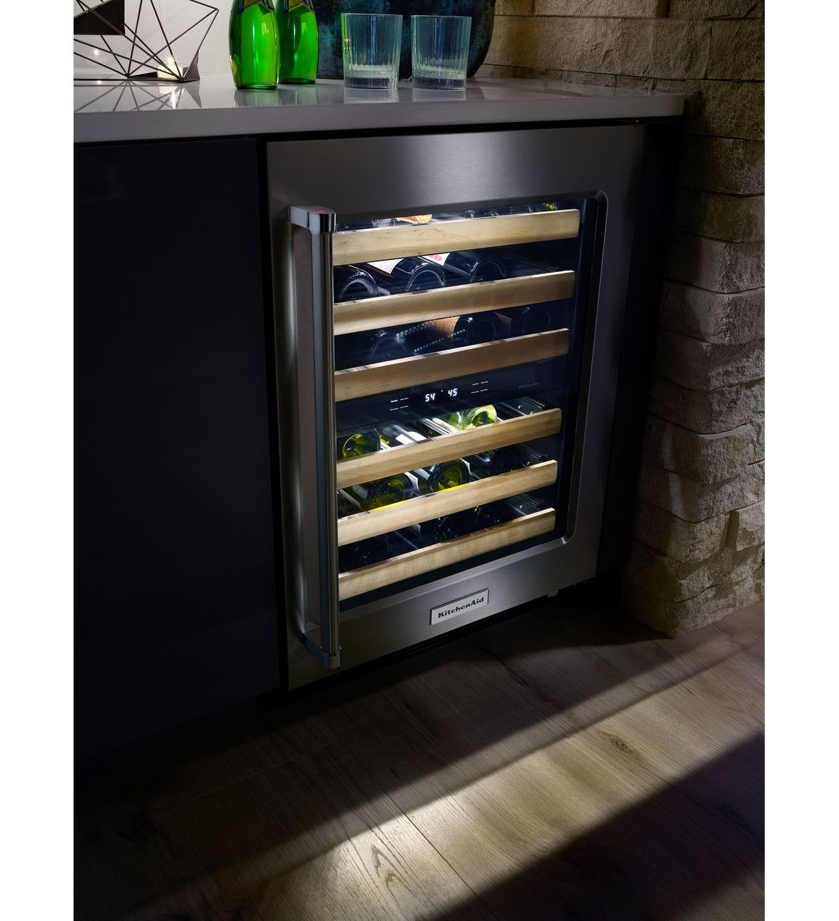 Kitchenaid Kuwr204esb 24 Quot Stainless Steel Wine Cellar With
