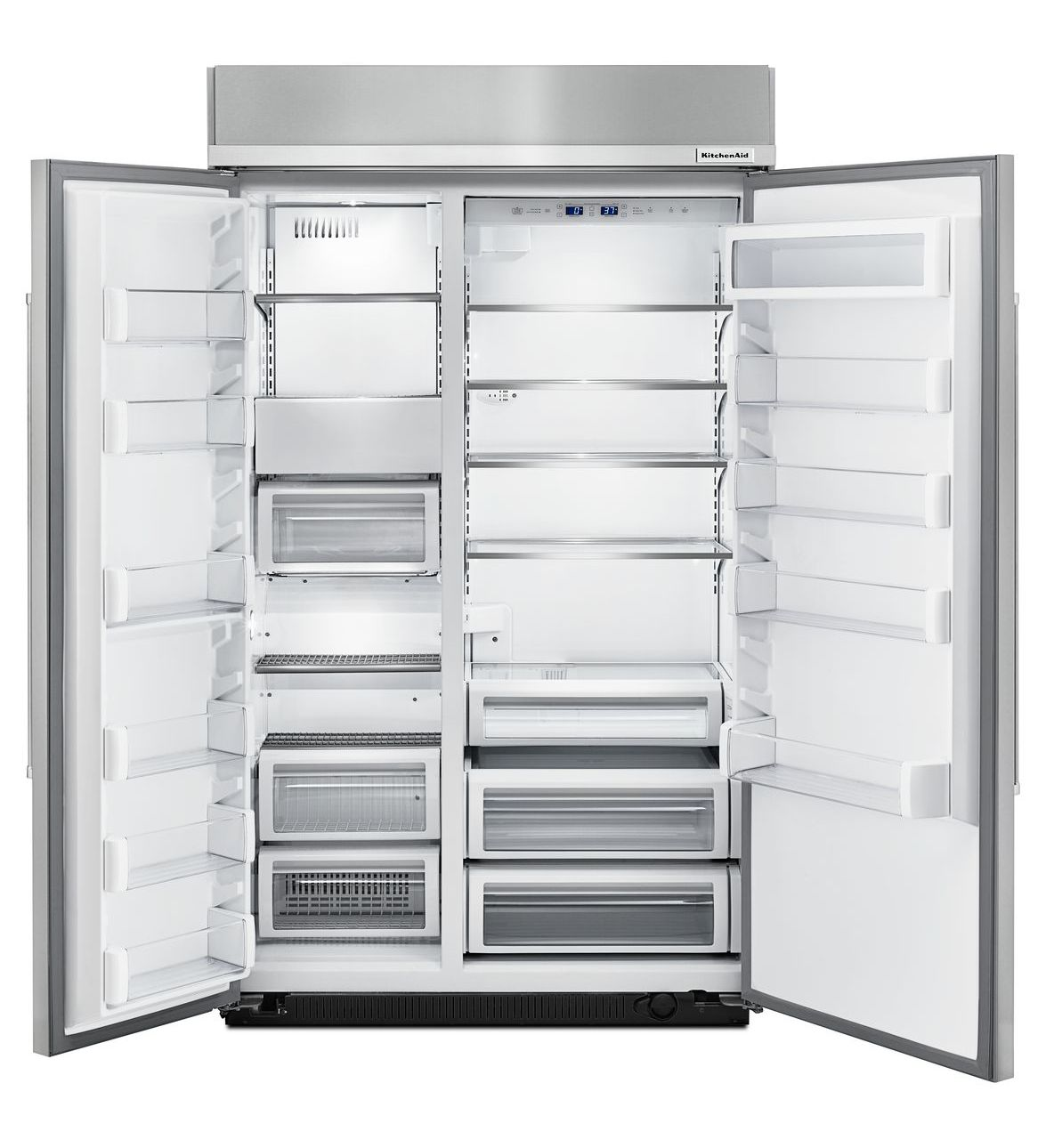 48 Kitchenaid 300 Cu Ft Built In Side By Side Refrigerator With Pri