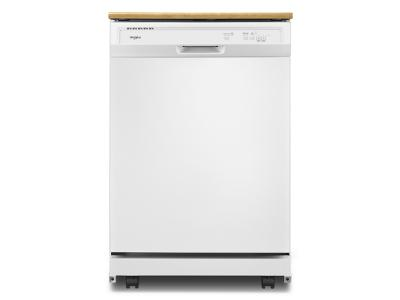 Whirlpool Heavy-Duty Dishwasher with 1-Hour Wash Cycle - WDP370PAHW