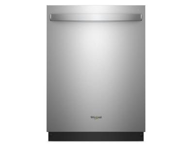 Whirlpool Smart Stainless Steel Tub Third Level Rack Dishwasher with TotalCoverage Spray Arm - WDT970SAHZ
