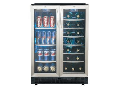 """Silhouette 24"""" FRENCH DOOR BEVERAGE CENTRE. DBC2760BLS"""