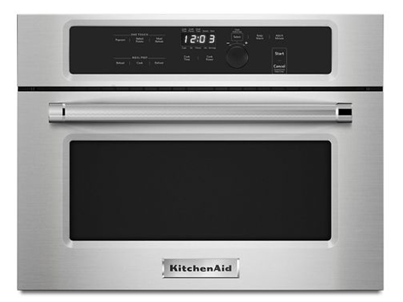 """kitchenaid kmbs104ess 24"""" built in microwave oven with"""