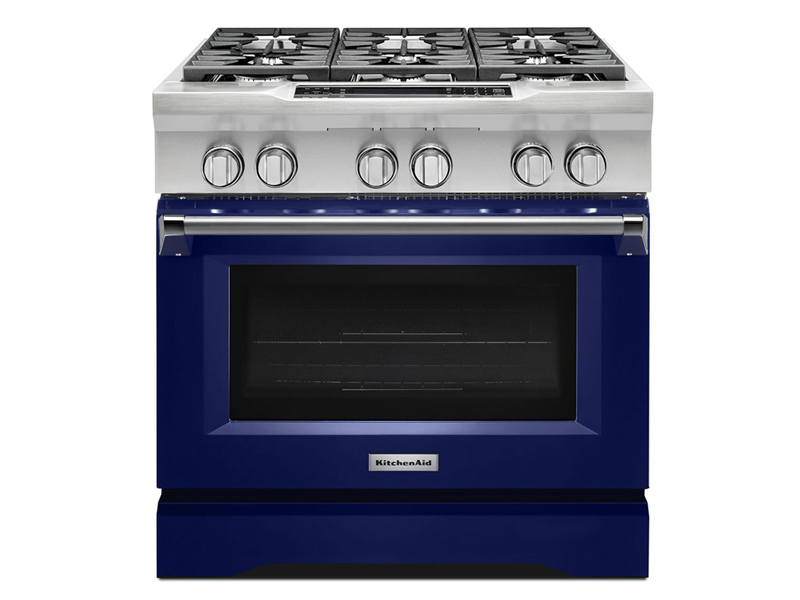Kitchenaid Kdrs467vsd 36 Quot 6 Burner Dual Fuel Freestanding