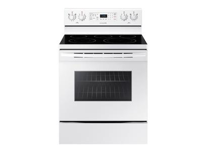 Samsung 5.9 cu. ft. Freestanding Electric CONVECTION Range with Warming Center - NE59M4320SW
