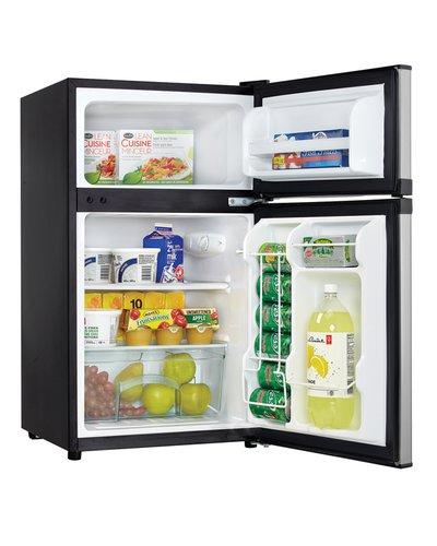 Danby Dual Door Compact Fridge with Freezer3.10 cu. ft. - DCR031B1BSLDD