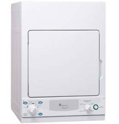 GE SpacemakerTM 220 Volts Electric Dryer with Quick Dry cycle - PCKS443EBWW